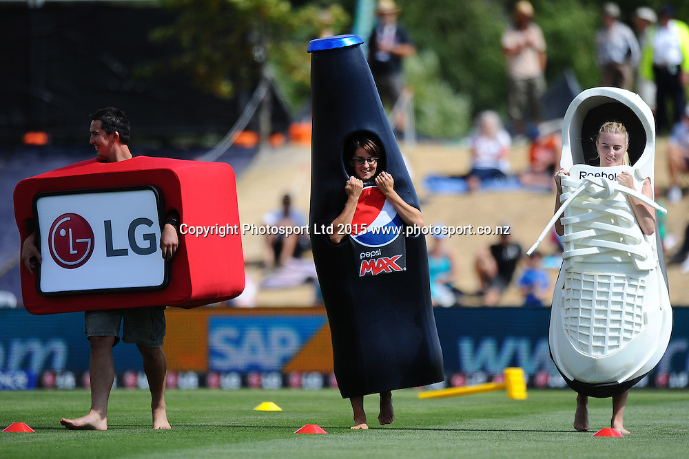 Half time entertainment during the 2015 ICC Cricket World Cup match between Bangladesh v Scotland. Saxton Oval, Nelson, New Zealand. Thursday 5 March 2015. Copyright Photo: Chris Symes / www.photosport.co.nz