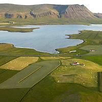 Lækur séð til suðurs, Leirár- og Melahreppur /.Laekur viewing south (Akrafjall) , Leirar and Melahreppur.