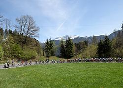 22.04.2019, Kufstein, AUT, Tour of the Alps, 1. Etappe, Kufstein - Kufstein, 144km, im Bild // the Peloton during the 1st Stage of the Tour of the Alps Cyling Race from Kufstein to Kufstein (144km) in in Kufstein, Austria on 2019/04/22. EXPA Pictures © 2019, PhotoCredit: EXPA/ Reinhard Eisenbauer