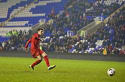 READING, ENGLAND - Wednesday, March 12, 2014: Liverpool's Joe Maguire scores as he takes the fifth penalty of the shoot-out against Reading during the FA Youth Cup Quarter-Final match at the Madejski Stadium. (Pic by David Rawcliffe/Propaganda)