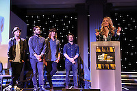 Catherine Marks was named breakthrough producer of the year for her work on Wolf Alice's Mercury-nominated album My Love Is Cool.<br /> The MPG Awards 2016, The Grosvenor Hotel, Park Lane.  Wednesday Feb 3rd, photo John Marshall/JM Enternational