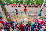 An enthusiastic group from Wheymouth - Queens 90th birthday was celebrated by the traditional Trooping the Colour as well as a flotilla on the river Thames.