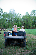 Jeremiah Jones and his family at Beaulaville, NC pig farm - Grassroots Pork Co.