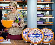Queen Maxima of The Netherlands opens the new KONO Chees factor in Westbeemster, The Netherlands, 13 November 2014. Photo: Patrick van Katwijk