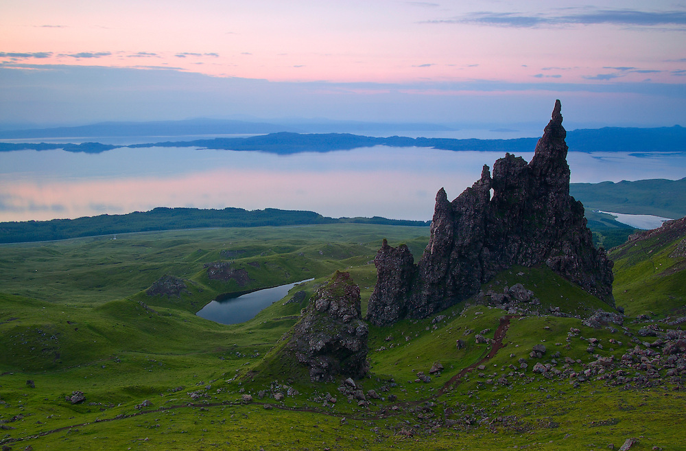 This area of the Storr known as the 'Sancturay' contains the weirdly shaped rock pinnacles which are remains of the ancient volcanic plugs.