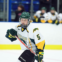 3rd year forward Jaycee Magwood (5) of the Regina Cougars in action during the Women's Hockey home game on October 14 at Co-operators arena. Credit: Arthur Ward/Arthur Images