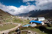 General view over Kyanjin Gompa Village, Langtang Valley, Nepal, on the 29th May 2009<br /> <br /> The village of Kyanjin Gompa was partially destroyed by the earthquake that struck Nepal at 11.56am on the 25th April 2015. <br /> <br /> PHOTOGRAPH BY AND COPYRIGHT OF SIMON DE TREY-WHITE<br /> <br /> + 91 98103 99809<br /> email: simon@simondetreywhite.com<br /> photographer in delhi