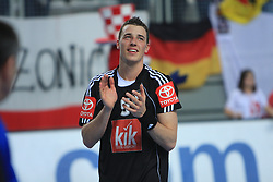 Dominik Klein (5) of Germany after 21st Men's World Handball Championship preliminary Group C match between FYR Macedonia and Germany, on January 21, 2009, in Arena Varazdin, Varazdin, Croatia. (Photo by Vid Ponikvar / Sportida)