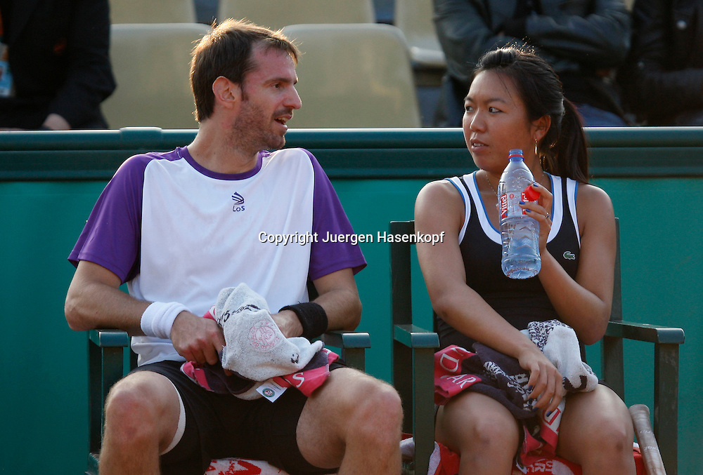 French Open 2010, Roland Garros, Paris, Frankreich,Sport, Tennis, ITF Grand Slam Tournament,..Mixed Doubles Match, Vania King (USA) / Christopher Kas (GER),......Foto: Juergen Hasenkopf..