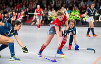 HAMBURG  (Ger) - Match 19,  for bronze , Der Club an der Alster (Ger) - Club Campo de Madrid (Esp)  Photo: Nele Aring (Alster) Eurohockey Indoor  Club Cup 2019 Women . WORLDSPORTPICS COPYRIGHT  KOEN SUYK