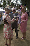 Princess Corinna Sayn-Wittgenstein; Winston Churchill;  Kate Elaessens, ,  Ascot, Tuesday 15 June 2004. ONE TIME USE ONLY - DO NOT ARCHIVE  © Copyright Photograph by Dafydd Jones 66 Stockwell Park Rd. London SW9 0DA Tel 020 7733 0108 www.dafjones.com