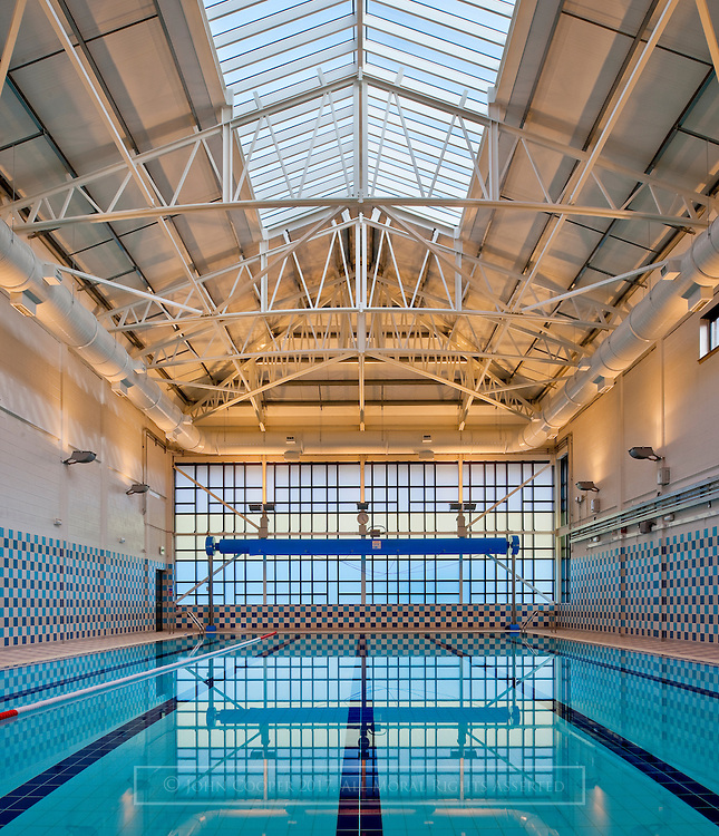 Swimming Pool at Maryhill Leisure Centre, Glasgow.