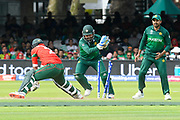 Wicket - Mashrafe Mortaza (c) of Bangladesh is stumped by Sarfraz Ahmed (capt & wk) of Pakistan off the bowling of Shadab Khan of Pakistan during the ICC Cricket World Cup 2019 match between Pakistan and Bangladesh at Lord's Cricket Ground, St John's Wood, United Kingdom on 5 July 2019.