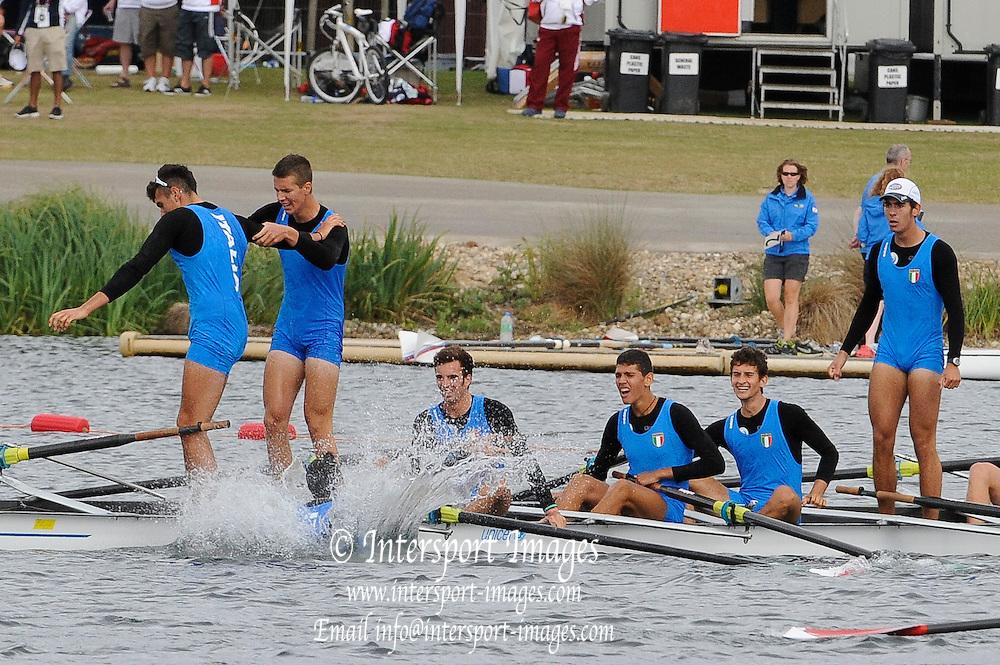 Eton. Great Britain.   ITA JM8+, Gold Medal, FISA Junior  World Rowing Championships. Dorney Lake, Nr Windsor. Saturday, 06/08/2011 [Mandatory credit: Intersport Images]