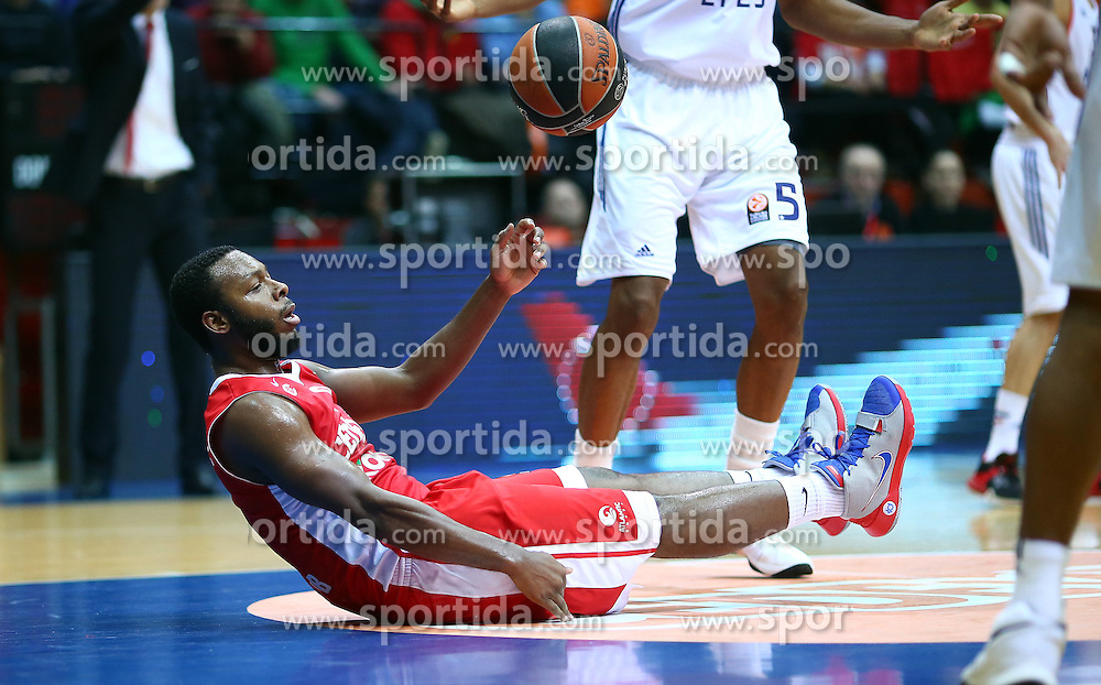 03.12.2015, KC Drazen Petrovic, Zagreb, CRO, FIBA, EL, KK Cedevita vs Anadolu Efes Istanbul, Gruppe B, 8. Runde, im Bild Jacob Pulen // during the group B, 8th round match of the Turkish Airlines Basketball Euroleague between KK Cedevita and Anadolu Efes Istanbul at the KC Drazen Petrovic in Zagreb, Croatia on 2015/12/03. EXPA Pictures &copy; 2015, PhotoCredit: EXPA/ Pixsell/ Slavko Midzor<br /> <br /> *****ATTENTION - for AUT, SLO, SUI, SWE, ITA, FRA only*****