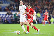 Wales midfielder Daniel James during the Friendly match between Wales and Belarus at the Cardiff City Stadium, Cardiff, Wales on 9 September 2019.
