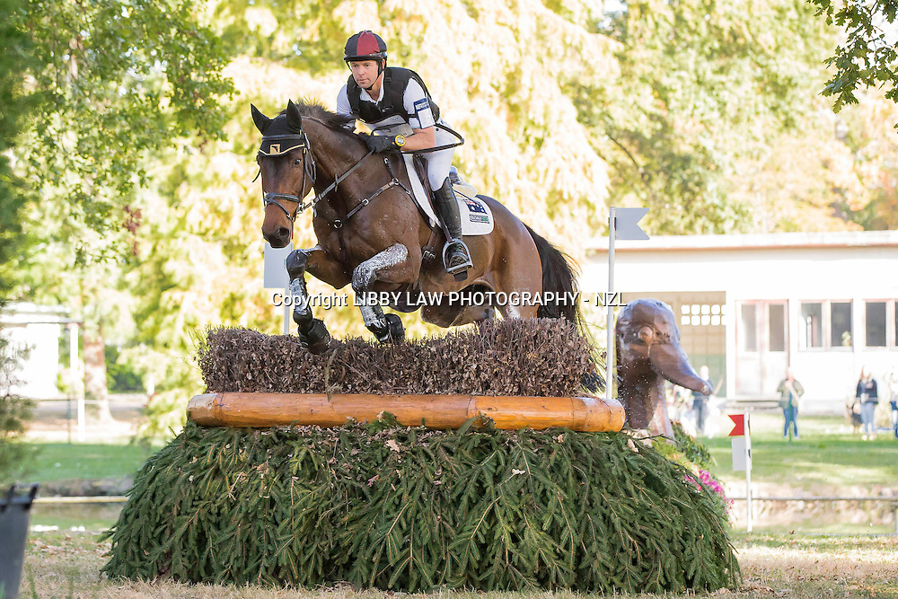 AUS-Kevin McNab (FERNHILL NOW OR NEVER) INTERIM-18TH: CIC2* CROSS COUNTRY: 2014 FRA-Les Etoiles de Pau (Saturday 25 October) CREDIT: Libby Law COPYRIGHT: LIBBY LAW PHOTOGRAPHY - NZL