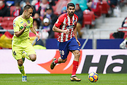Atletico Madrid's Spanish forward Diego Costa runs with the ball during the Spanish Championship Liga football match between Atletico Madrid and Getafe on January 6, 2018 at the Wanda Metropolitano stadium in Madrid, Spain - Photo Benjamin Cremel / ProSportsImages / DPPI