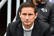 Derby County manager Frank Lampard Derby County manager Frank Lampard signs autographs for the fans as he arrives at Ashton Gate Stadium ahead of the EFL Sky Bet Championship match between Bristol City and Derby County at Ashton Gate, Bristol, England on 27 April 2019.