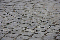 Close-up view of cobbled street