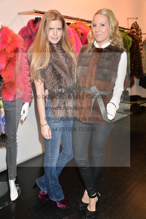 Left to right, KATIE READMAN and ALICE NAYLOR-LEYLAND at a preview of the Hockley Autumn -Winter 2013/2014 Collection at Hockley, 20 Conduit Street, London on 26th November 2013.