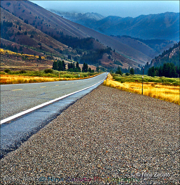 Open road near Sun Valley, Idaho.