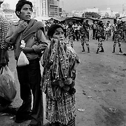 Guatemala City, September 4th 1985, rioting in the city centre.