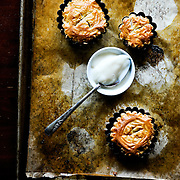 Miniature Apple Tarts with Creme Fraiche