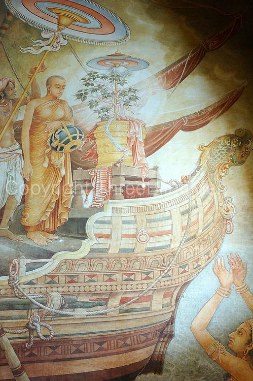 Sri Lanka..Kelaniya Temple. arrival of Bo sapling.<br /> Murals by Solius Mendis.