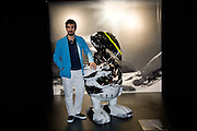 FRANCESCO RAGAZZI, The Moncler Duck toy interpreted by artist Stuart Semple. Presented by Fraca Sozzani. Raleigh Hotel Miami Beach. 5 December 2008 *** Local Caption *** -DO NOT ARCHIVE-© Copyright Photograph by Dafydd Jones. 248 Clapham Rd. London SW9 0PZ. Tel 0207 820 0771. www.dafjones.com.
