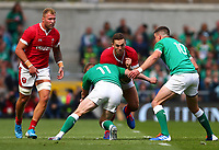 Rugby Union - 2019 pre-Rugby World Cup warm-up (Guinness Summer Series) - Ireland vs. Wales<br /> <br /> George North (Wales) is tackled by Keith Earls (Ireland) at The Aviva Stadium.<br /> <br /> COLORSPORT/KEN SUTTON