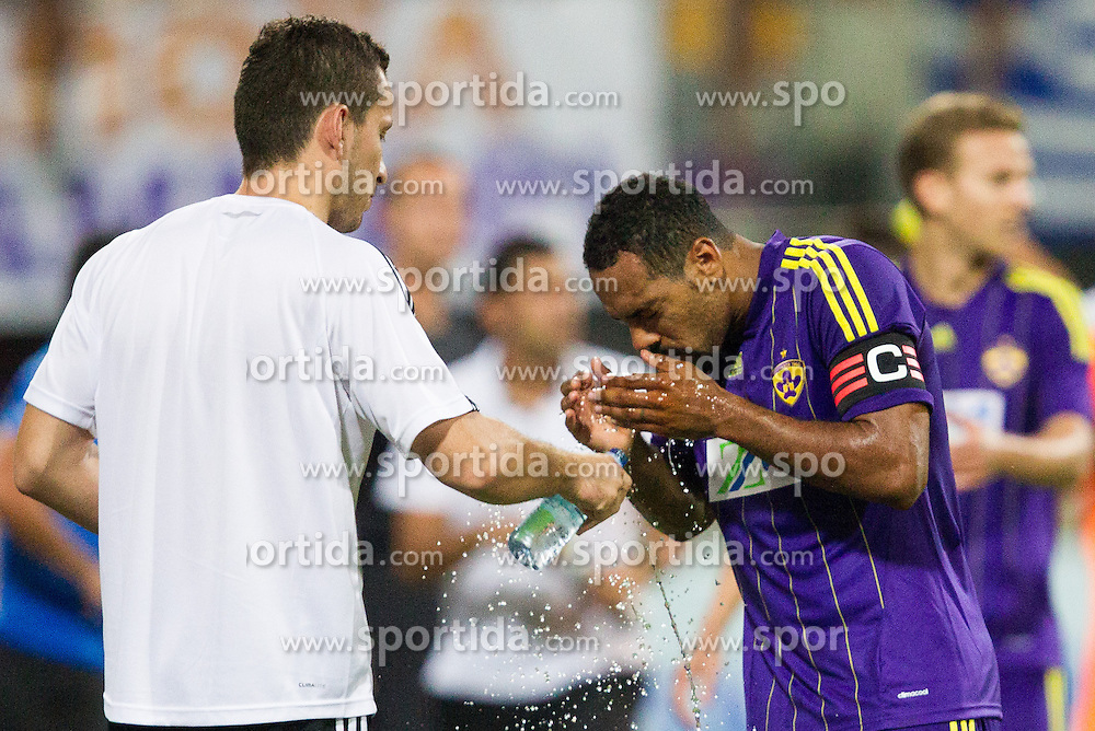 Marcos Tavares #9 of Maribor during football match between NK Maribor and APOEL FC, (Cyprus) in Third qualifying round, Second leg of UEFA Champions League 2014, on August 6, 2013 in Stadium Ljudski vrt, Maribor, Slovenia. (Photo by Vid Ponikvar / Sportida.com)