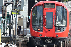 Forensic officers inspect the carriage which carried the terrorist bomb at parsons green tube station<br /><br />15 September 2017.<br /><br />Please byline: Vantagenews.com