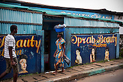 Oprah Beauty Saloon.  Freetown, Sierra Leone