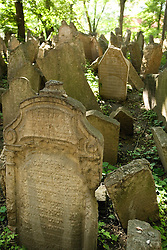 The Old Jewish Cemetery in Josefov, the Jewish Quarter, was created in the 15th century when Jews were forbidden to bury their dead outside their own district.