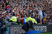 Crystal Palace midfielder Patrick Van Aanholt celebrates his goal (score 4-0) during the Premier League match between Crystal Palace and Hull City at Selhurst Park, London, England on 14 May 2017. Photo by Andy Walter.