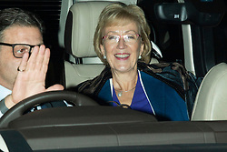 © Licensed to London News Pictures. 29/10/2019. London, UK. Parliamentary Under-Secretary of State for Energy and Climate Change of the United Kingdom Andrea Leadsom departs The Houses of Parliament.  Photo credit: George Cracknell Wright/LNP