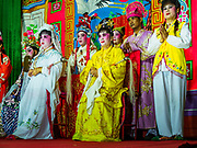 "12 JANUARY 2018 - BANGKOK, THAILAND:      A Chinese opera performance for the Lunar New Year at the Chaomae Thapthim Shrine in the Dusit district of Bangkok. Many Chinese shrines and temples host Chinese operas during the Lunar New Year. Lunar New Year is 16 February this year and opera troupes are starting their holiday engagements at local Chinese temples and shrines. The new year will be the ""Year of the Dog."" Chinese New Year, also called Lunar New Year or Tet, is widely celebrated in Chinese communities around the world. Thailand has a large Chinese community and Lunar New Year is an important holiday.    PHOTO BY JACK KURTZ"