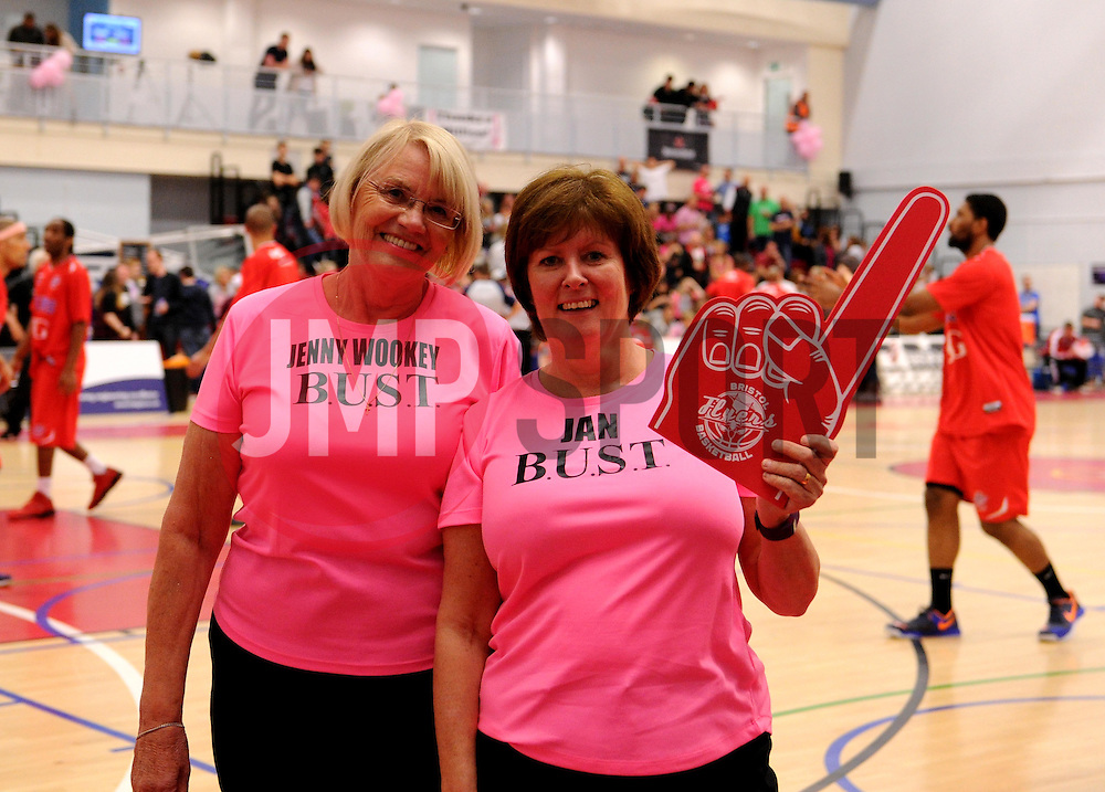 BUST fund-raisers at Bristol Flyers - Photo mandatory by-line: Paul Knight/JMP - Mobile: 07966 386802 - 10/10/2015 - BASKETBALL - SGS Wise Arena - Bristol, England - Bristol Flyers v Newcastle Eagles - British Basketball League