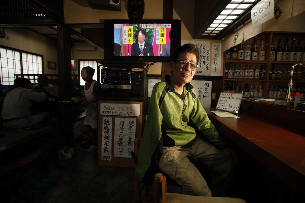 Hisao Yanai Owner of Ippei  Izakaya (restaurant /bar)   Naraha Japan