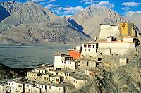 Inde - Province du Jammu Cachemire -  Ladakh - Vallée de la Nubra - Monastère bouddiste de Diskit