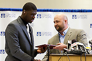 February 01, 2012: Dorial Green-Beckham announces where he plans to play college football on National Signing Day at Hillcrest High School in Springfield, Missouri. Photo by: David Welker/ Turfimages.com