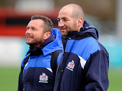Bristol Rugby Forwards coach, Steve Borthwick  with Bristol Rugby First Team Coach Sean Holley  - Mandatory byline: Joe Meredith/JMP - 05/12/2015 - RUGBY - Billesley Common - Birmingham, England - Moseley v Bristol Rugby - Greene King IPA Championship