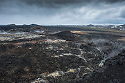 Leirhnjúkur is a lava area near Myvatn in north-east Iceland.