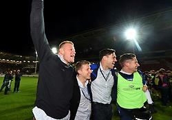 Joe Joyce of Bristol Rugby celebrates on the final whistle with Glen Townson  - Mandatory byline: Joe Meredith/JMP - 25/05/2016 - RUGBY UNION - Ashton Gate Stadium - Bristol, England - Bristol Rugby v Doncaster Knights - Greene King IPA Championship Play Off FINAL 2nd Leg.