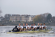London, Great Britain, Oxford, Business approaching Chiswick Eyot, during the  BNY Mellon, 2016 University Men's Boat Race, Putney to Mortlake. ENGLAND. <br /> <br /> Sunday 13.12.2015<br /> <br /> [Mandatory Credit; Peter Spurrier/Intersport-images]