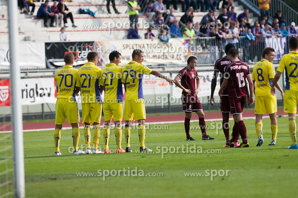 Football match between NK Triglav and NK Maribor in 13th Round of Slovenian First League PrvaLiga NZS 2012/13 on October 7, 2012 in Sports park Kranj, Slovenia. NK Triglav defeated NK Maribor 1-0 (Photo by Grega Valancic / Sportida)