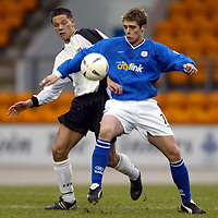St Johnstone v Ayr United...14.02.04<br />Ross Forsyth and Andrew Ferguson<br /><br />Picture by Graeme Hart.<br />Copyright Perthshire Picture Agency<br />Tel: 01738 623350  Mobile: 07990 594431
