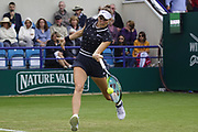 Vondrousova (CZE) Vs Zheng (CHN) Action at the Nature Valley International 2019 at Devonshire Park, Eastbourne, United Kingdom on 24th June 2019. Picture by Jonathan Dunville