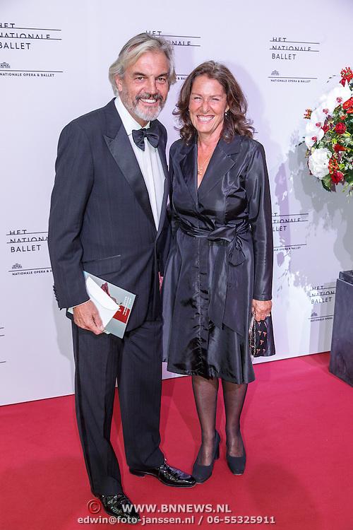 NLD/Amsterdam/20150908 - Inloop Gala 2015 - Nationaal Ballet, Derek de Lint en partner Dorith Jesserun